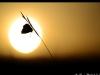 Argus et coucher de soleil.