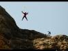 Base jump dans les Mallos.